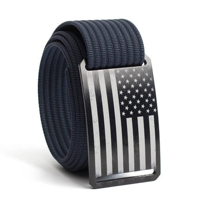 Men's USA Black Flag Buckle GRIP6 belt with Navy strap swatch-image