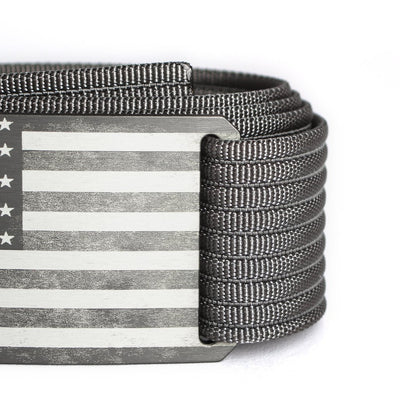 Men's USA Gunmetal Flag Belt