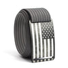 Men's USA Gunmetal Flag Buckle GRIP6 belt with Grey strap swatch-image