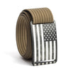 Men's USA Gunmetal Flag Buckle GRIP6 belt with Khaki strap swatch-image