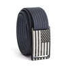 Women's USA Gunmetal Flag Narrow Buckle GRIP6 belt with Navy strap swatch-image