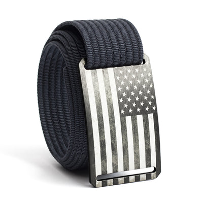 Men's USA Gunmetal Flag Buckle GRIP6 belt with Navy strap swatch-image