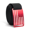 Men's USA Red Flag Buckle GRIP6 belt with Black strap swatch-image
