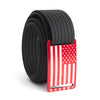 Men's USA Red Flag Narrow Buckle GRIP6 belt with Black strap swatch-image