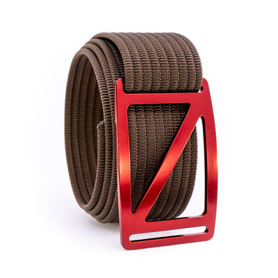 Ember Slope GRIP6 Men's belt with Mocha strap swatch-image
