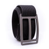 Gunmetal Horizon GRIP6 Men's belt with Black strap swatch-image 360view