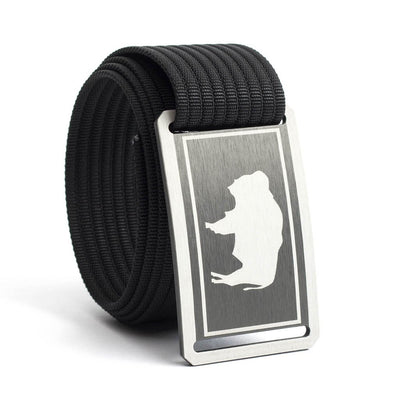 Men's Wyoming Gunmetal Buckle GRIP6 belt with Black strap swatch-image