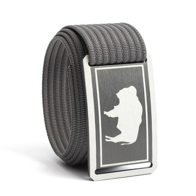 Men's Wyoming Gunmetal Buckle GRIP6 belt with Grey strap swatch-image