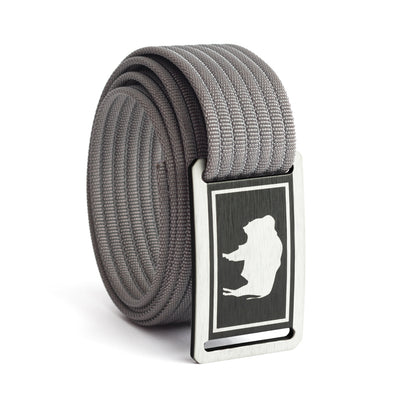 Men's Wyoming Flag Narrow Buckle GRIP6 belt with Grey strap swatch-image