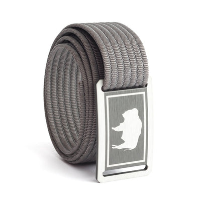 Kids' Wyoming Flag Buckle GRIP6 belt with Grey strap swatch-image