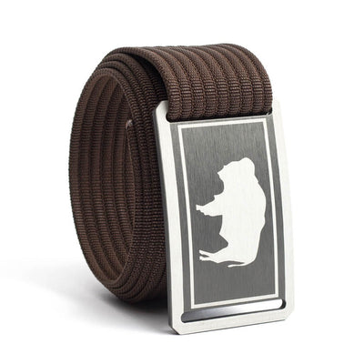 Men's Wyoming Gunmetal Buckle GRIP6 belt with Mocha strap swatch-image