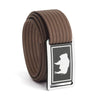 Men's Wyoming Flag Narrow Buckle GRIP6 belt with Mocha strap swatch-image