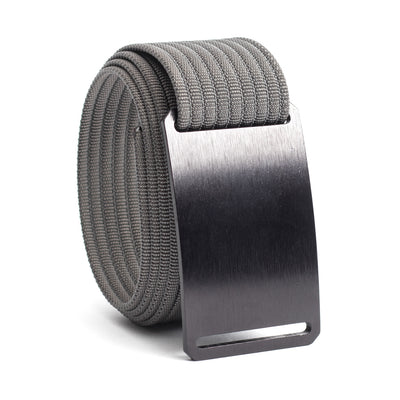 Ninja (Black buckle) GRIP6 Men's belt with Grey strap swatch-image