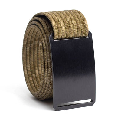 Ninja (Black buckle) GRIP6 Men's belt with Khaki strap swatch-image