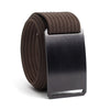 Ninja (Black buckle) GRIP6 Men's belt with Mocha strap swatch-image