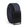 GRIP6 Belts Men's Narrow Classic Ninja (Black) buckle with Navy Strap swatch-image