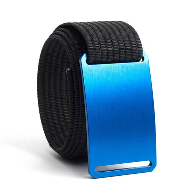 River (blue buckle) GRIP6 Men's belt with Black strap swatch-image