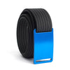 GRIP6 Belts Men's Narrow Classic River (Blue) buckle with Black Strap swatch-image