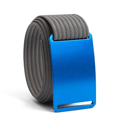 River (blue buckle) GRIP6 Men's belt with Grey strap swatch-image