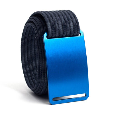 River (blue buckle) GRIP6 Men's belt with Navy strap swatch-image
