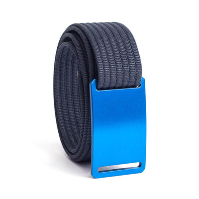 GRIP6 Belts Men's Narrow Classic River (Blue) buckle with Navy Strap swatch-image