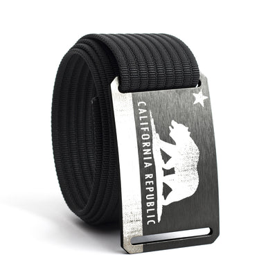 Men's California Flag Buckle GRIP6 belt with Black strap swatch-image
