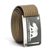 Men's California Flag Buckle GRIP6 belt with Khaki strap swatch-image