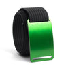 Moss (Green buckle) GRIP6 Men's belt with Black strap swatch-image