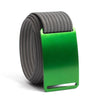 Moss (Green buckle) GRIP6 Men's belt with Grey strap swatch-image