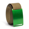 Moss (Green buckle) GRIP6 Men's belt with Khaki strap swatch-image