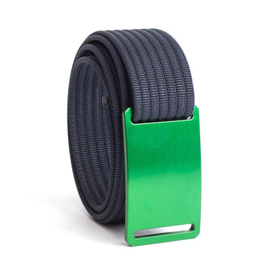 GRIP6 Belts Men's Narrow Classic Moss (Green) buckle with Navy Strap swatch-image