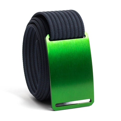Moss (Green buckle) GRIP6 Men's belt with Navy strap swatch-image