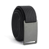 GRIP6 Belts Kids Classic Gunmetal (Grey) buckle with black strap swatch-image