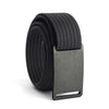GRIP6 Belts Men's Narrow Classic Gunmetal (Grey) buckle with Black Strap swatch-image