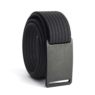 Gunmetal Buckle GRIP6 Women's belt with Black strap swatch-image