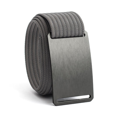 Gunmetal (Grey buckle) GRIP6 Men's belt with Grey strap swatch-image