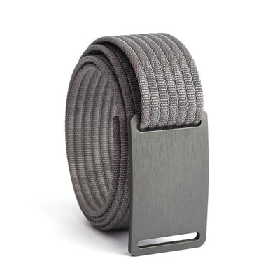 GRIP6 Belts Kids Classic Gunmetal (Grey) buckle with grey strap swatch-image