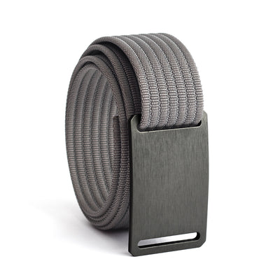 GRIP6 Belts Men's Narrow Classic Gunmetal (Grey) buckle with Grey Strap swatch-image
