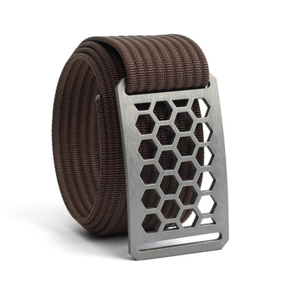 Men's Conservation Honeycomb buckle GRIP6 Mocha belt strap swatch-image