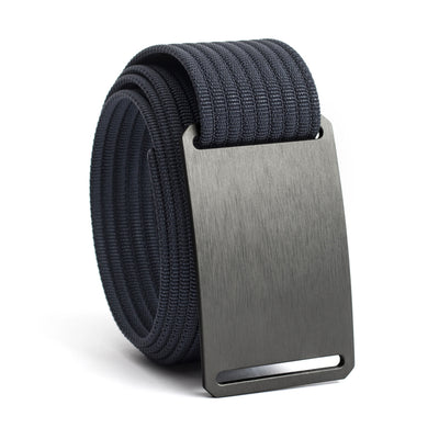 Gunmetal (Grey buckle) GRIP6 Men's belt with Navy strap swatch-image