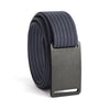 Gunmetal Buckle GRIP6 Women's belt with Navy strap swatch-image