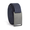 GRIP6 Belts Kids Classic Gunmetal (Grey) buckle with navy strap swatch-image