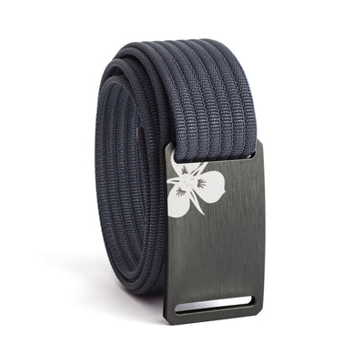 Women's Gunmetal Sego Lily Buckle GRIP6 belt with Navy strap swatch-image
