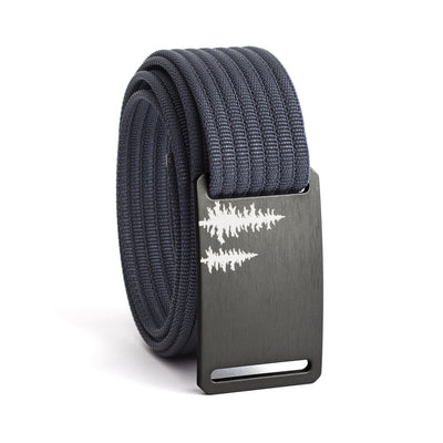 Women's Gunmetal Pine Buckle GRIP6 belt with Navy strap swatch-image