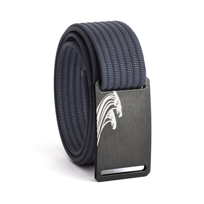 Women's Gunmetal Surf Buckle GRIP6 belt with Navy strap swatch-image