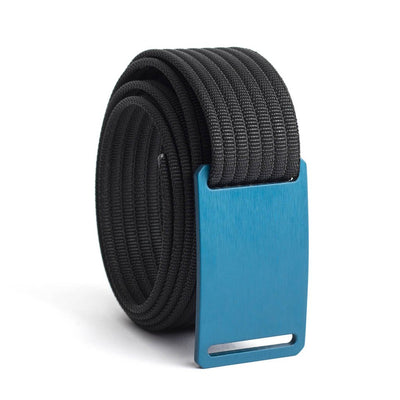 GRIP6 Belts Kids Classic Navy Blue (Aggie) buckle with black strap swatch-image
