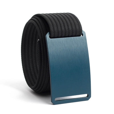 Aggie (Navy buckle) GRIP6 Men's belt with Black strap swatch-image