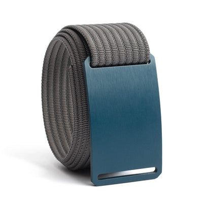 Aggie (Navy buckle) GRIP6 Men's belt with Grey strap swatch-image