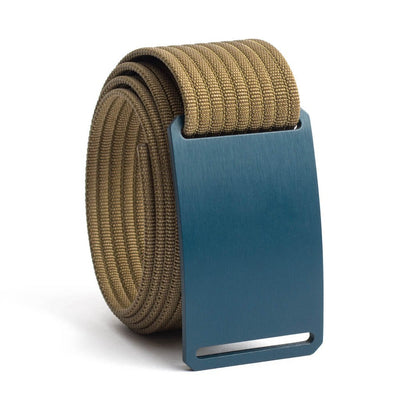Aggie (Navy buckle) GRIP6 Men's belt with Khaki strap swatch-image