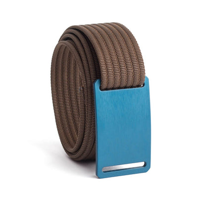 GRIP6 Belts Men's Narrow Classic Aggie (Navy) buckle with Mocha Strap swatch-image